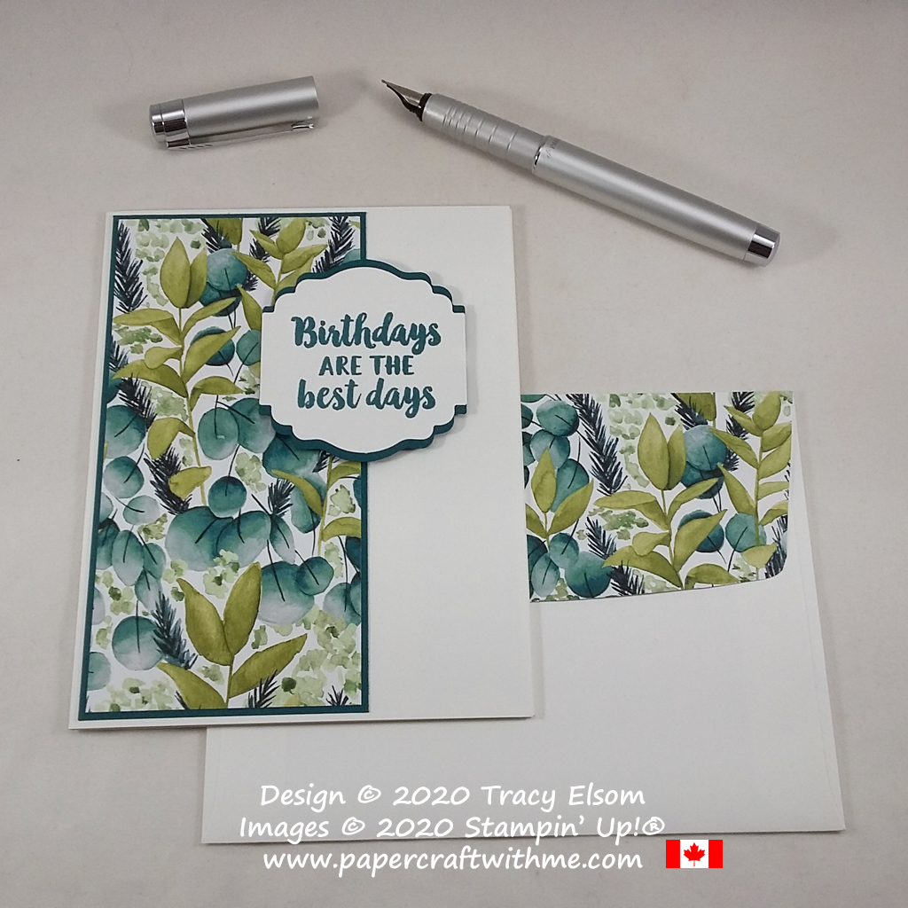 Masculine / gender neutral birthday card created using the Beautiful Friendship Stamp Set, Label Me Lovely Punch and Forever Greenery paper from Stampin' Up! #papercraftwithme
