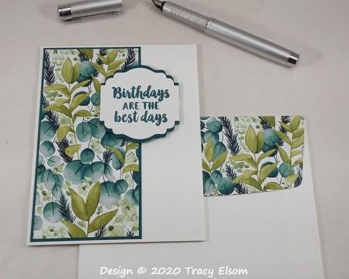 2097 Greenery Birthday Card