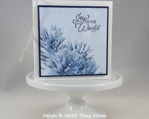 Snowy Branch Gift Tag