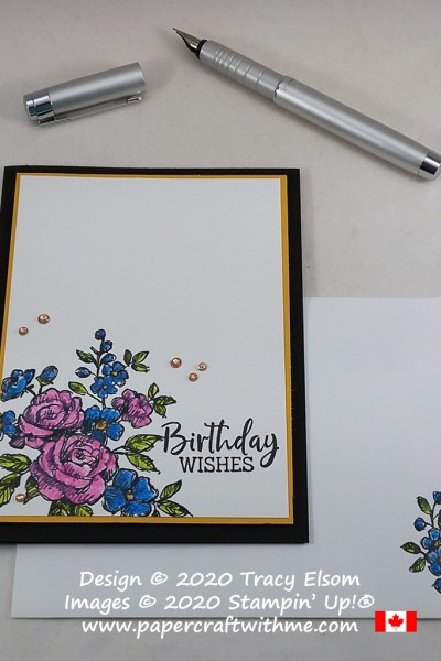 Birthday wishes card with envelope decorated inside using the Fancy Phrases Stamp Set and Envelopes Dies from Stampin' Up! #papercraftwithme