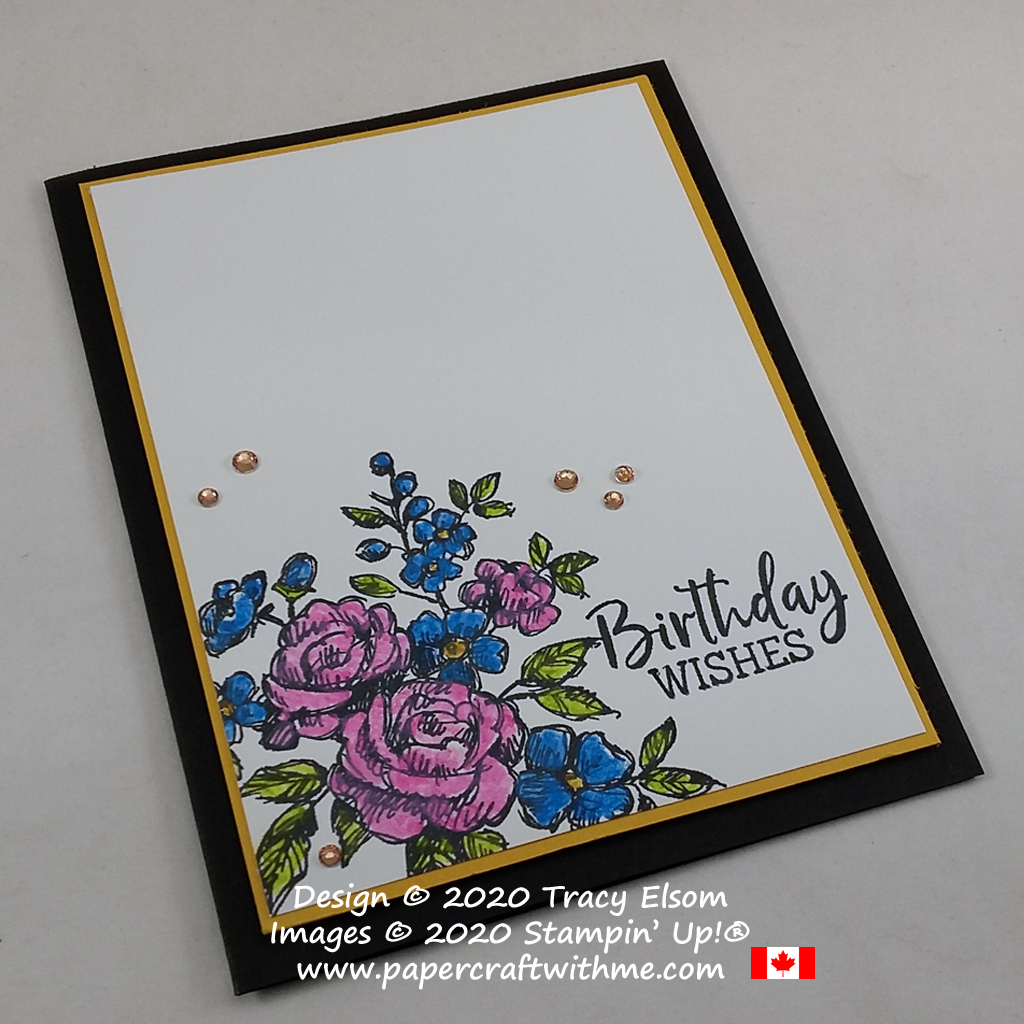 Birthday wishes card created using the Fancy Phrases Stamp Set from Stampin' Up! #papercraftwithme