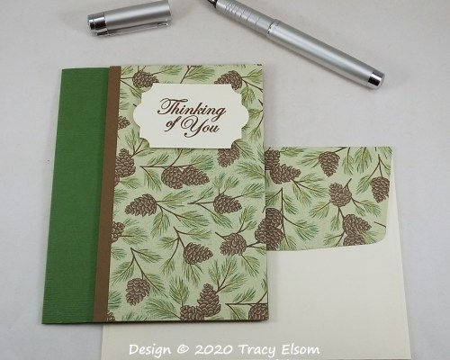 2109 Pine Cone Thinking Of You Card