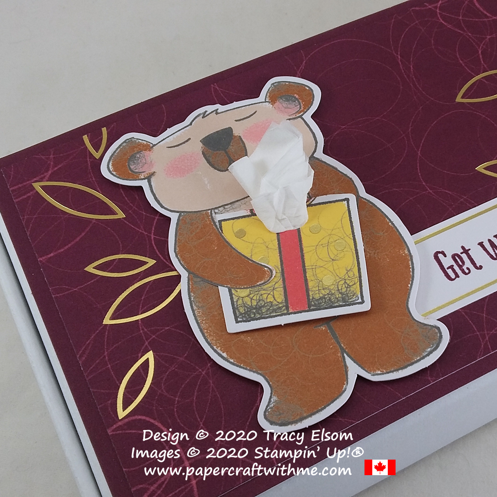 """Get well care package created using a Mini Paper Pumpkin box and pieces from the December 2020 Paper Pumpkin kit """"Beary Comforting"""" from Stampin' Up! #papercraftwithme"""