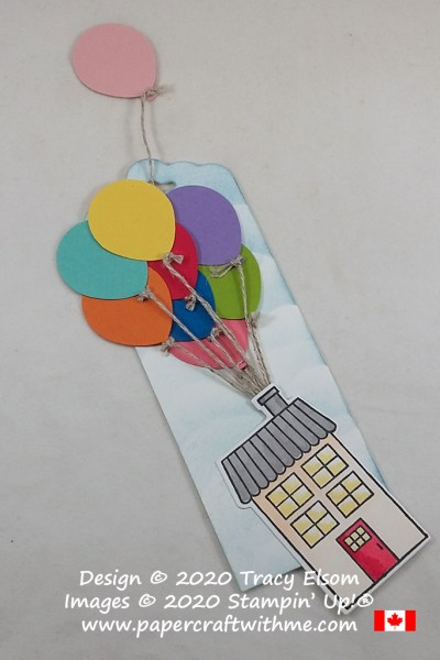 Up! inspired bookmark created using the Balloon Bouquet Punch with the retiring Coming Home Stamp Set and Home Together Dies from Stampin' Up! #papercraftwithme