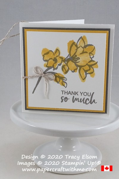 "Simple ""thank you so much"" gift tag created using the A Touch of Ink Stamp Set from Stampin' Up! #papercraftwithme"