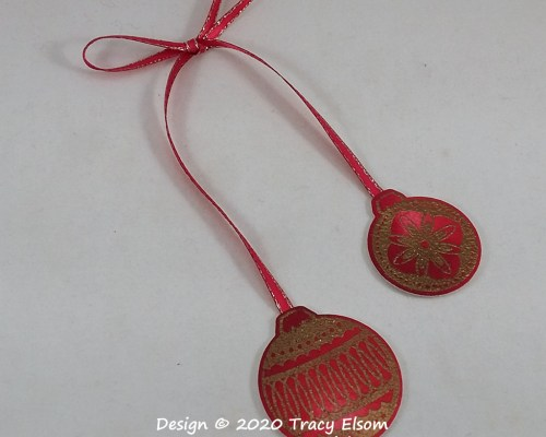 Two Part Ornament Tag