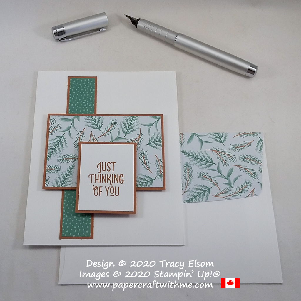 """Just Thinking of You"" card created using the Many Mates Stamp Set and Flowers For Every Season paper from Stampin' Up! #simplestamping #papercraftwithme"
