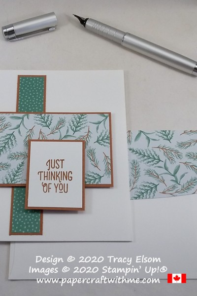 """""""Just Thinking of You"""" card created using the Many Mates Stamp Set and Flowers For Every Season paper from Stampin' Up! #simplestamping #papercraftwithme"""