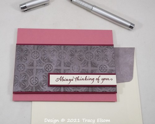 2179 Tin Tile Thinking Of You Card