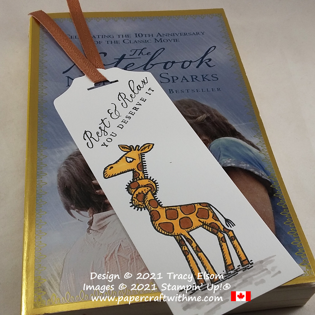 """Simple bookmark with """"rest and relax"""" sentiment created using the Back On Your Feet and Timeless Tropical Stamp Sets from Stampin' Up! #papercraftwithme"""