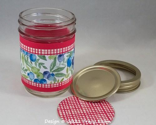 P158 Berry Jam Jar Wrap & Lid