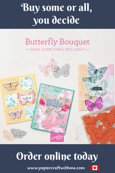 Get butterflies galore with the new Butterfly Bouquet suite; stamp set, dies, and paper. #papercraftwithme