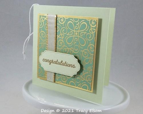 Golden Congratulations Gift Tag