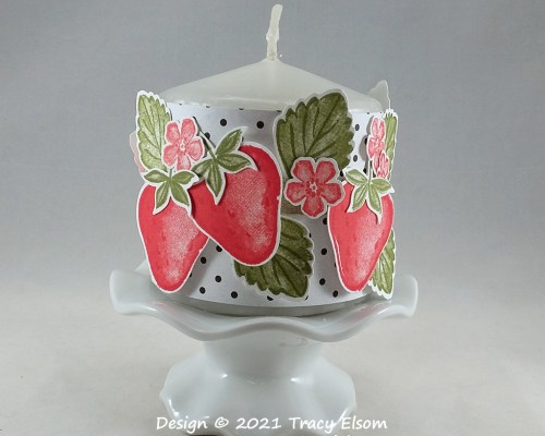 P154 Strawberry Candle Wrap