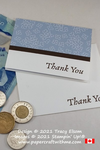 """This """"Thank you"""" notecard and envelope is perfect for leaving a tip and/or a little personal note for your server. #papercraftwithme"""