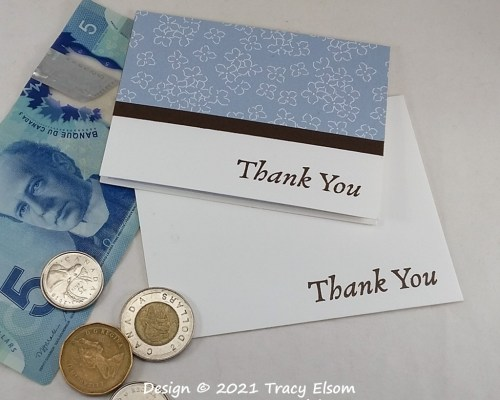 GC221 Thank You Card For Tips
