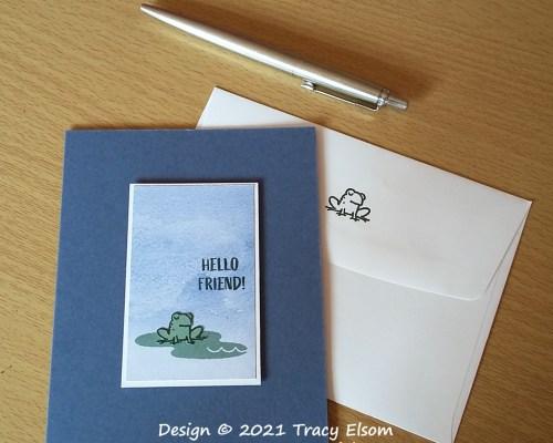 2193 Hello Friend Frog Card