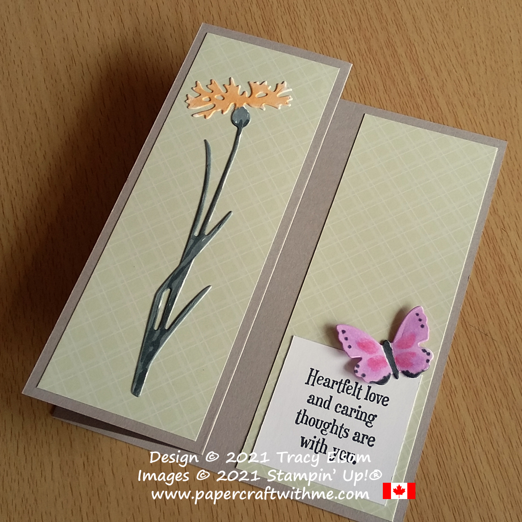 """""""Heartfelt love and caring thoughts"""" - z-fold card created using the Quiet Meadow Stamp Set and coordinating Meadow Dies from Stampin' Up! #papercraftwithme"""
