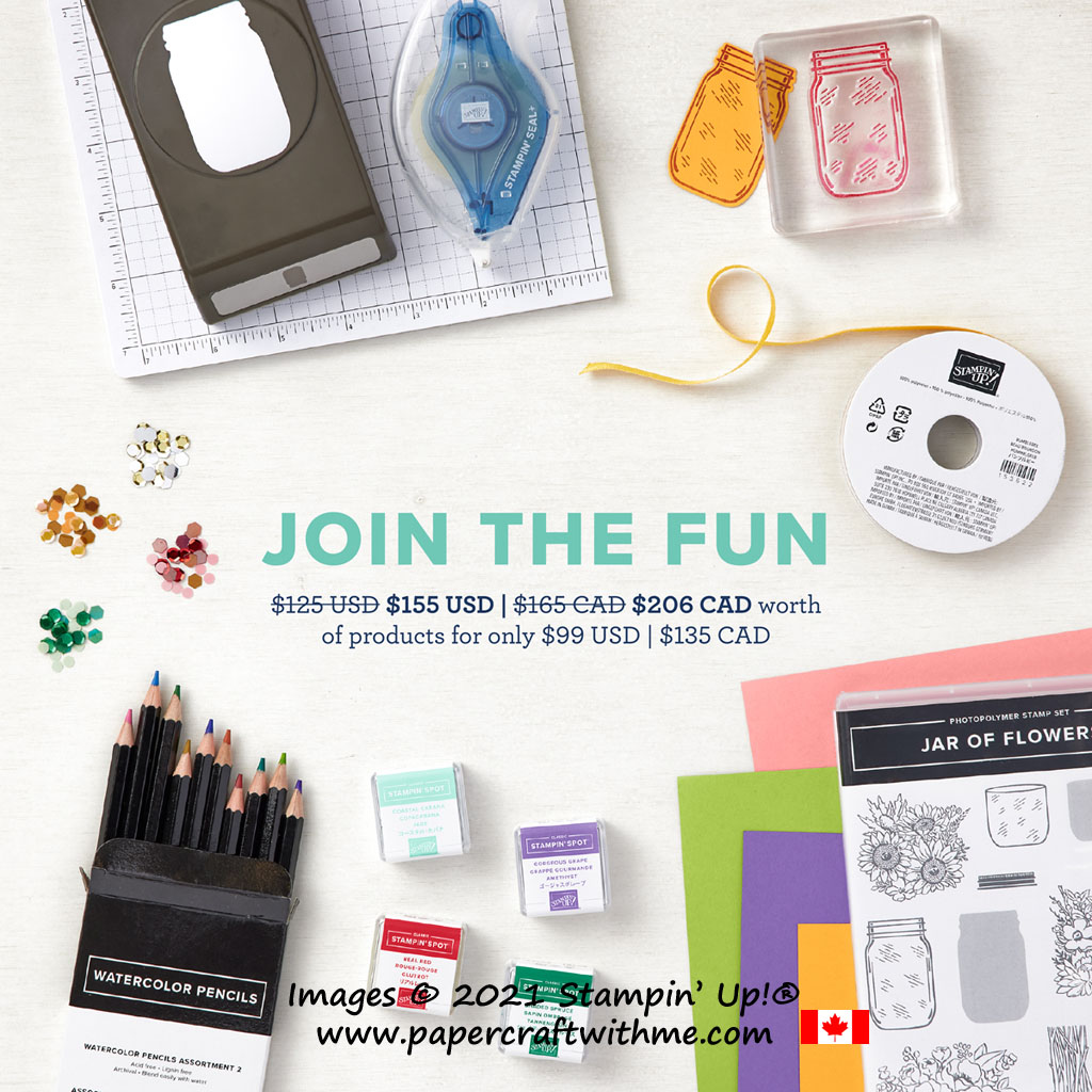 Join Stampin' Up! and my Crafty Canadians team by May 31st 2021 and fill your Starter Kit with $206 of products for just $135 with FREE shipping. #papercraftwithme