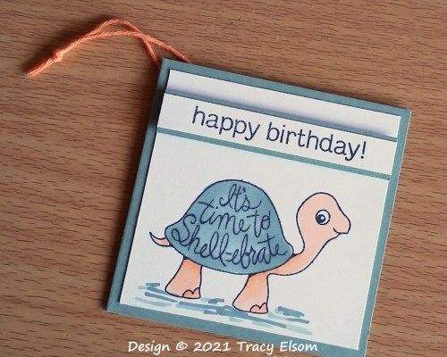 It's Time To Shell-ebrate Gift Tag