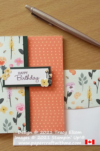 Simple birthday card created using the Pansy Patch Stamp Set and Pansy Petals paper from Stampin' Up! #simplestamping #papercraftwithme