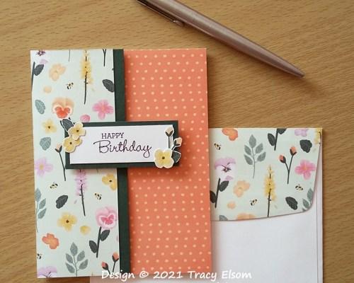 2213 Simple Floral Birthday Card