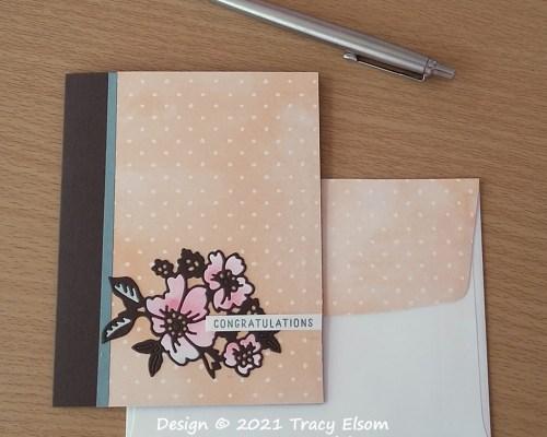 2214 Brushed Petals Congratulations Card