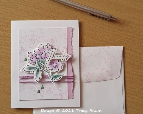2215 Hand-Penned Petals Thanks Card