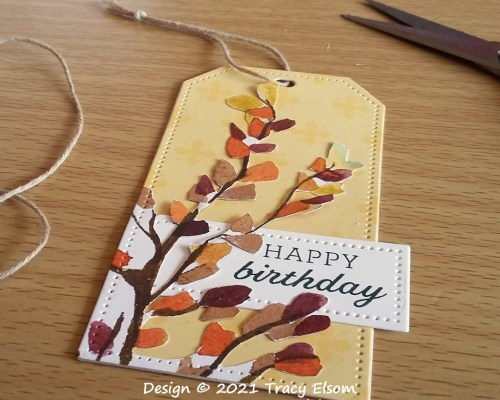 Branches Birthday Gift Tag