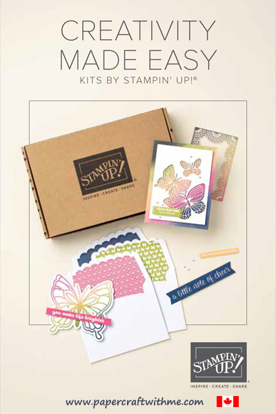 Want a quick and easy crafting experience without the expense and preparation?  Check out the new all-inclusive kits from Stampin' Up! It's crafting made easy! #papercraftwithme