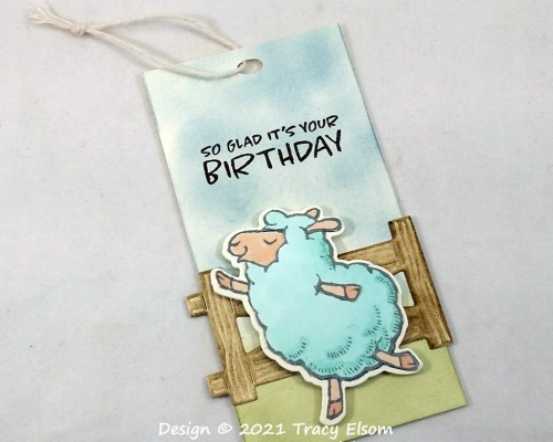 Dancing Sheep Birthday Gift Tag