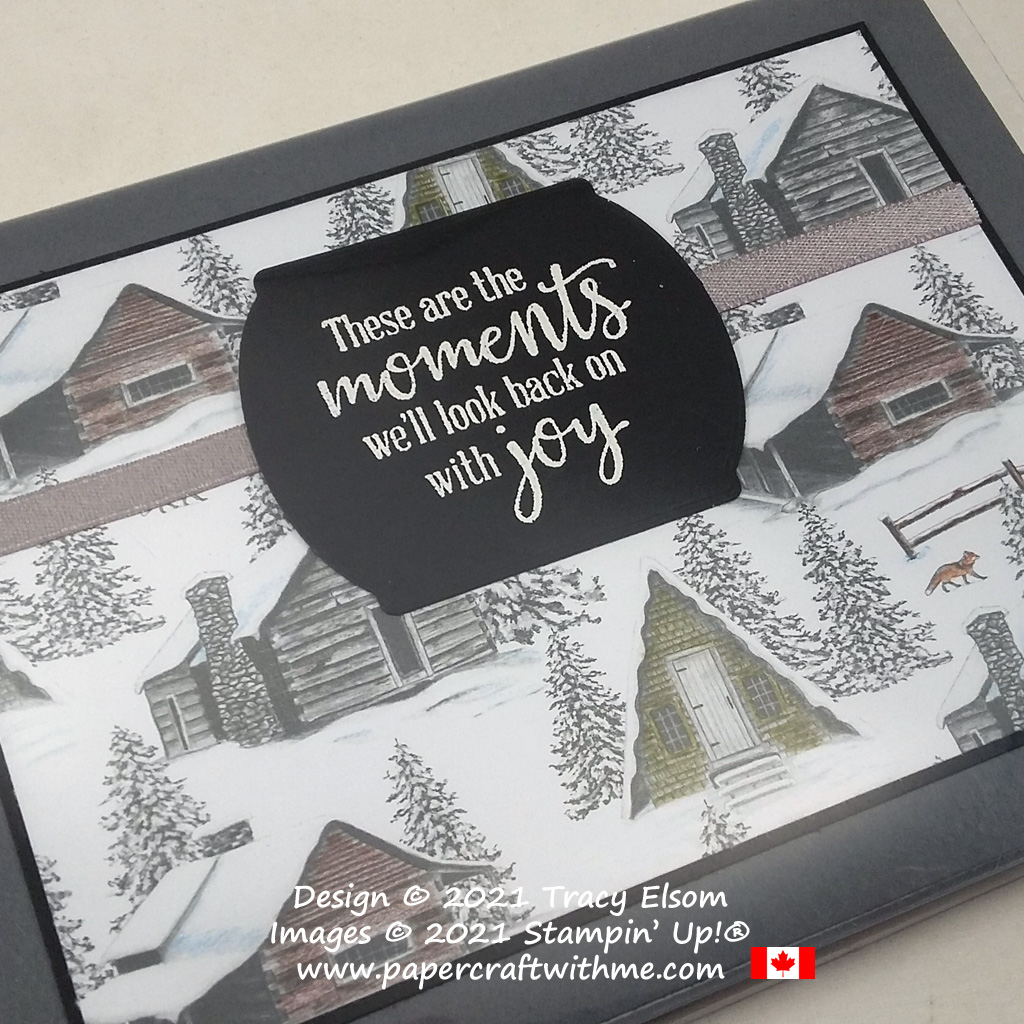 """4"""" x 6"""" pocket photo album with cover created using the Peaceful Moments Stamp Set and Peaceful Place specialty patterned paper from Stampin' Up! #papercraftwithme"""