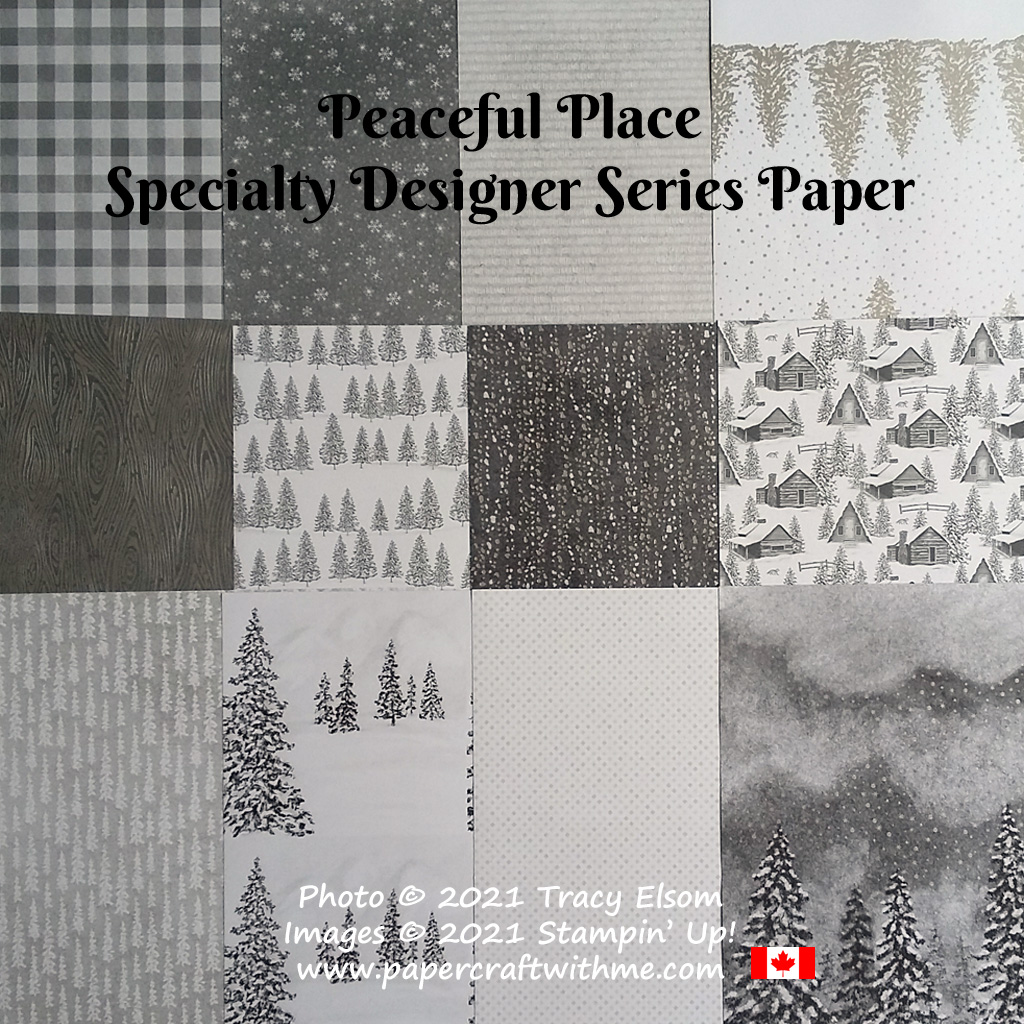 Peaceful Place Specialty Designer Series Paper from Stampin' Up! #papercraftwithme
