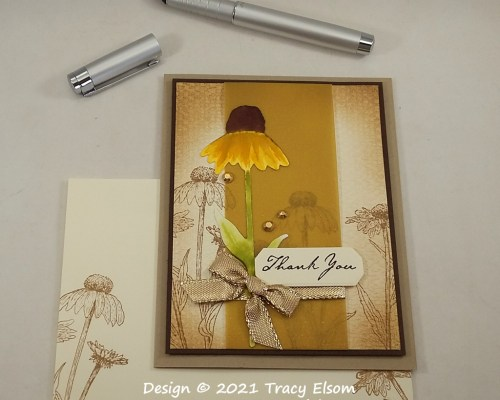 2259 Coneflower Thank You Card