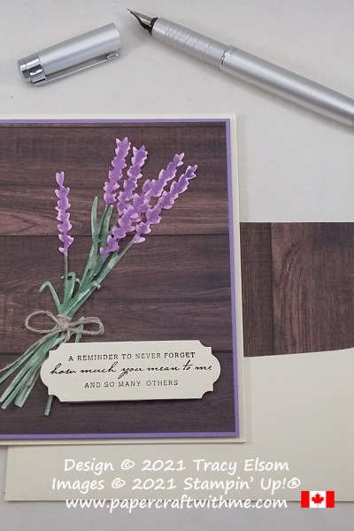 """""""A reminder..."""" card with lavender created using the Nature's Harvest Stamp Set and Harvest Dies from Stampin' Up! #papercraftwithme"""