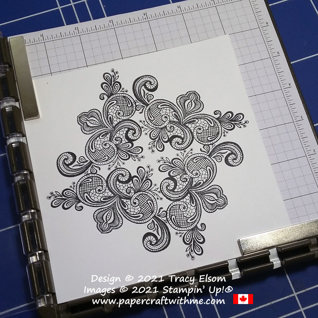 Creating a larger pattern using the Elegantly Said Stamp Set from Stampin' Up! #papercraftwithme