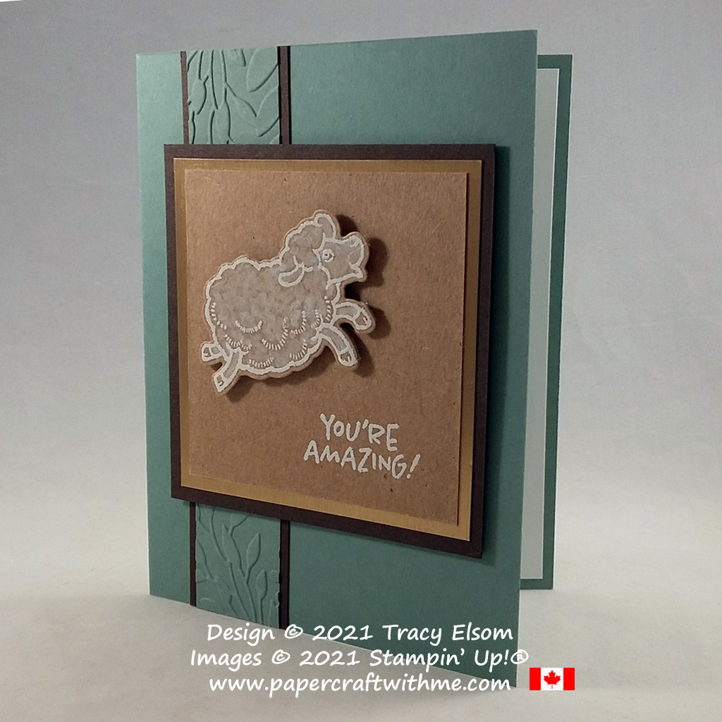 """""""You're amazing"""" card created using the Counting Sheep Stamp Set and Sheep Dies from Stampin' Up! Available for FREE with a qualifying order until September 30, 2021. #papercraftwithme"""