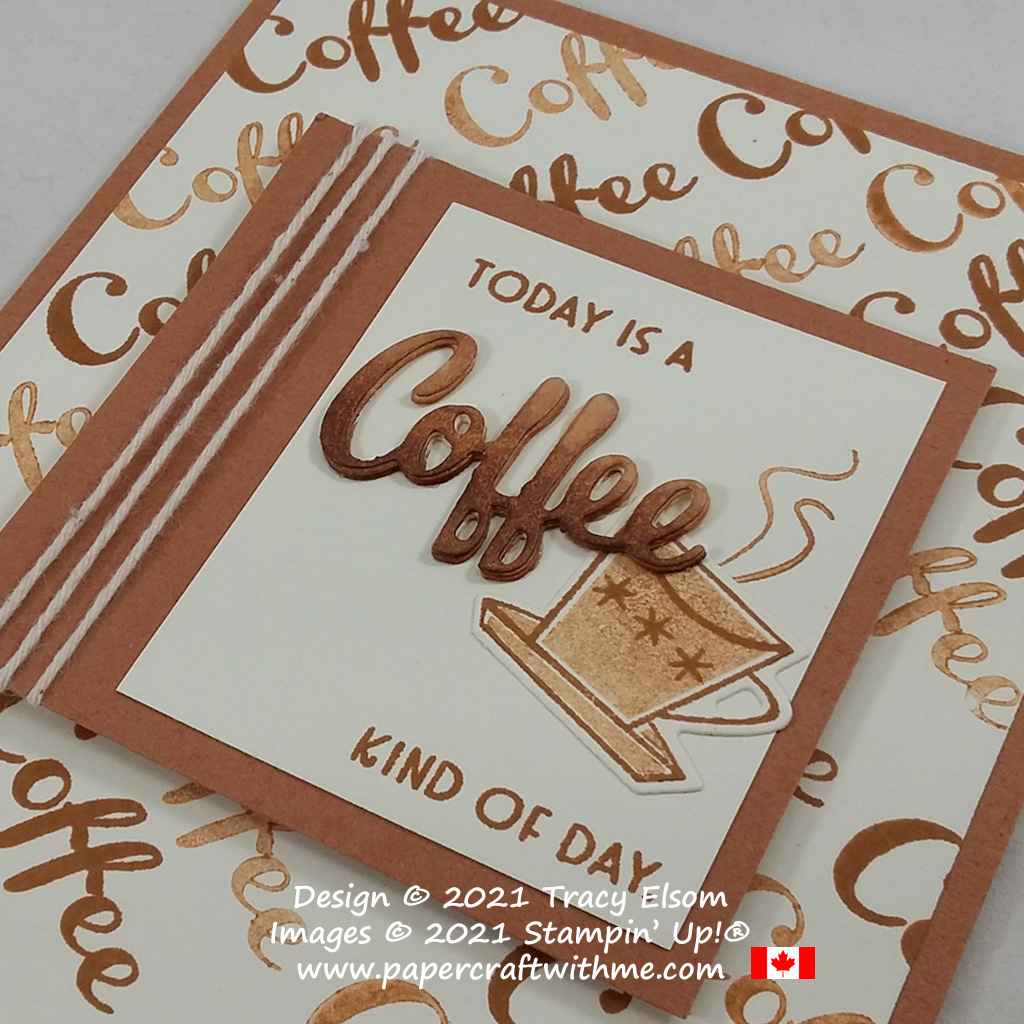 Celebrate International Coffee Day with this fun card created using the Nothing's Better Than Stamp Set and coordinating Love You More Than Dies from Stampin' Up! #papercraftwithme
