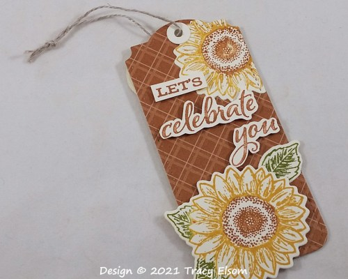 Let's Celebrate You Sunflower Tag