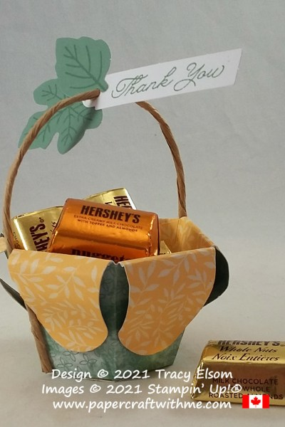 """Treat basket created using the September 2021 Paper Pumpkin kit """"Haunts & Harvest"""" from Stampin' Up! #papercraftwithme"""