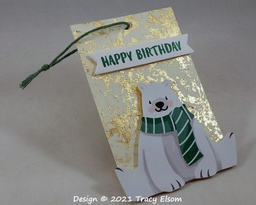 Polar Bear Birthday Gift Tag