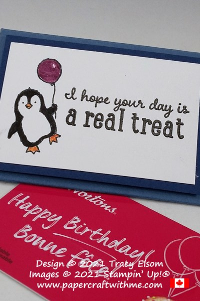 """""""Hope your day is a real treat"""" gift card holder created using the Count On Me and Pampered Pets Stamp Sets from Stampin' Up! #papercraftwithme"""