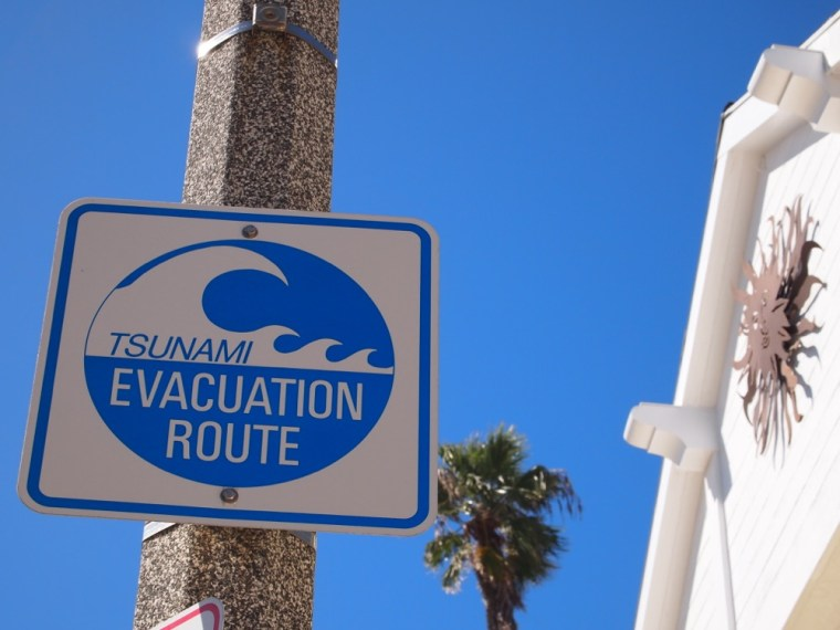 Tsunami Evacuation Route, Newport Beach