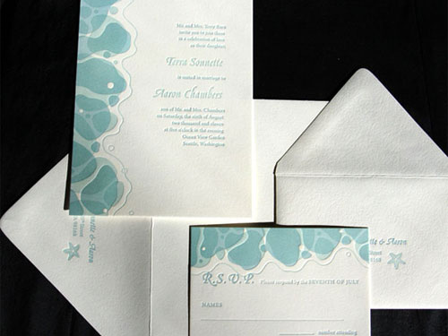 Nami Couture Affordable Letterpress Invitations Wedding