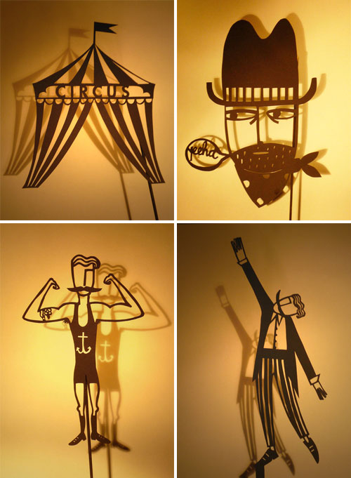 Papercut Shadow Puppets by Su Owen