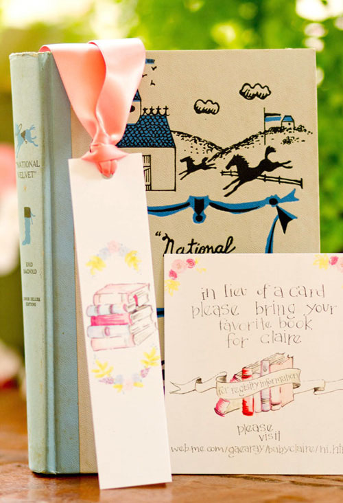 Book Themed Baby Shower Invitations Ideas With Good Wording