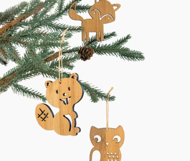 Bamboo Christmas Ornaments Main