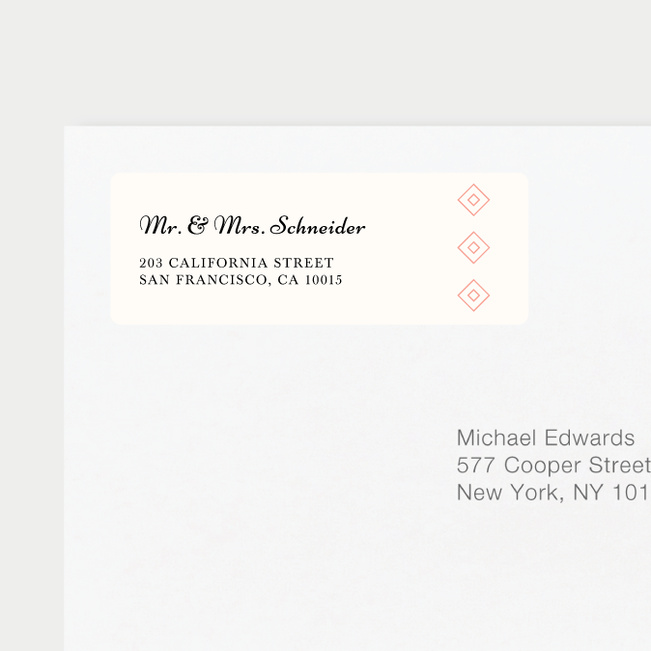 Rough Wedding Return Address Labels