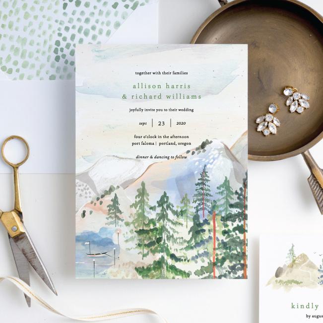 Tahoe Inspired Wedding Invitation