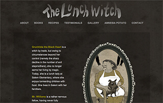 THE LUNCH WITCH has a website!